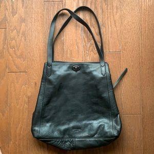 Margot   Anthropologie Black Leather Hobo Bag